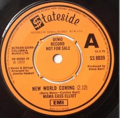 Mama Cass Elliot - New World Coming