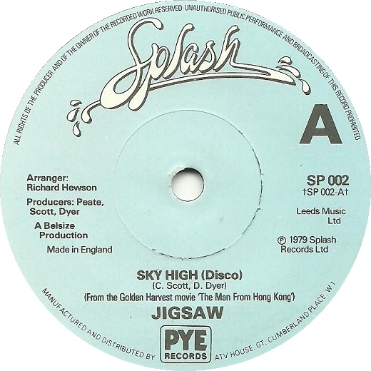 Jigsaw - Sky High (Disco) / Hard To Find