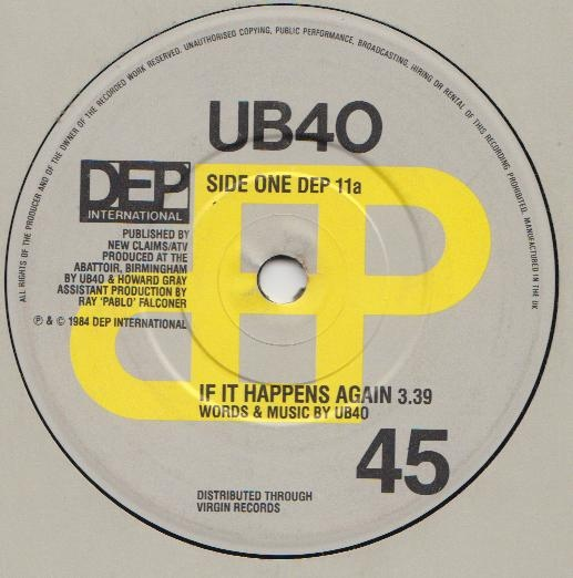 UB40 - If It Happens Again