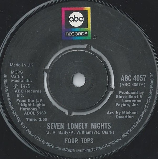 Four Tops - Seven Lonely Nights