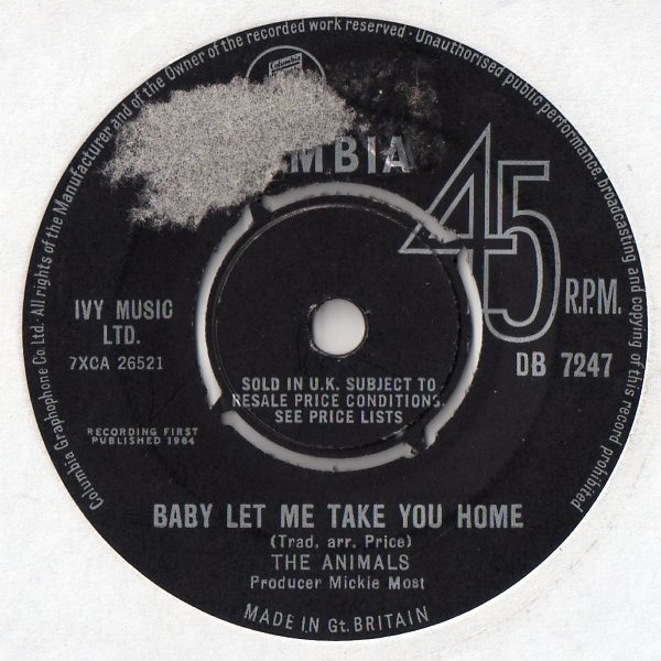 The Animals - Baby Let Me Take You Home