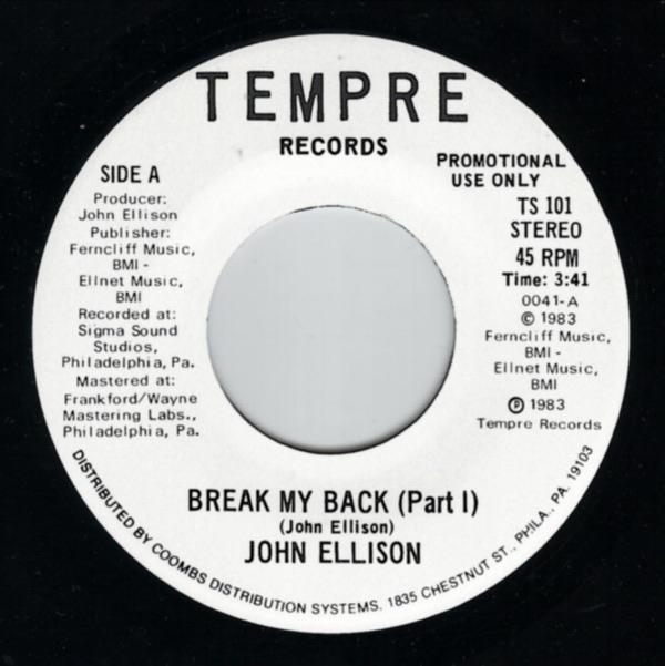 John Ellison - Break My Back (Promo)