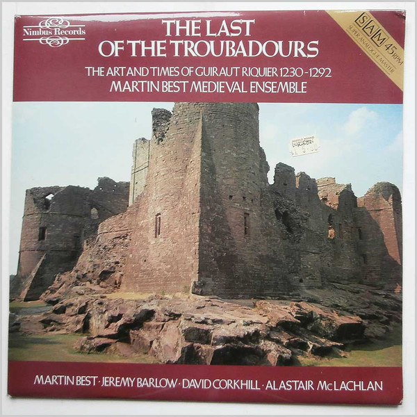 Martin Best Medieval Ensemble - The Last Of The Troubadours