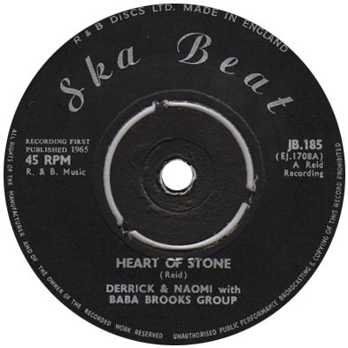 Derrick & Naomi With Baba Brooks Group - Heart Of Stone / Let Me Go