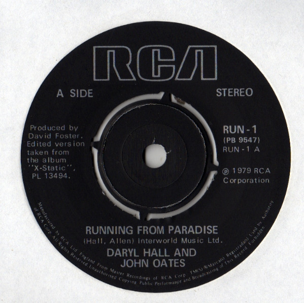 Daryl Hall & John Oates - Running From Paradise