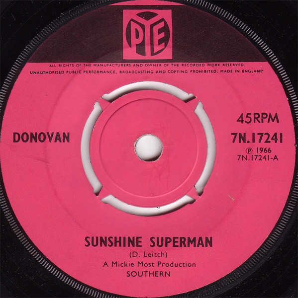 DONOVAN - Sunshine Superman - 45T x 1