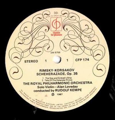 The RPO. , Rudolf Kempe, Rimsky-Korsakov - Scheherazade Op. 35
