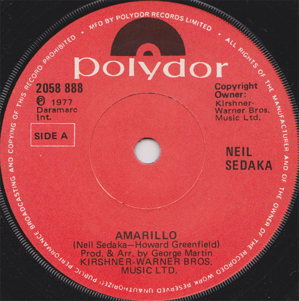 Neil Sedaka - Amarillo / The Leaving Game