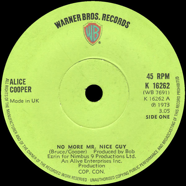 Alice Cooper No More Mr Nice Guy Records, LPs, Vinyl and ...
