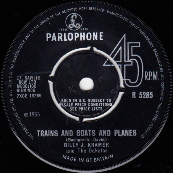 Billy J. Kramer And The Dakotas - Trains And Boats And Planes