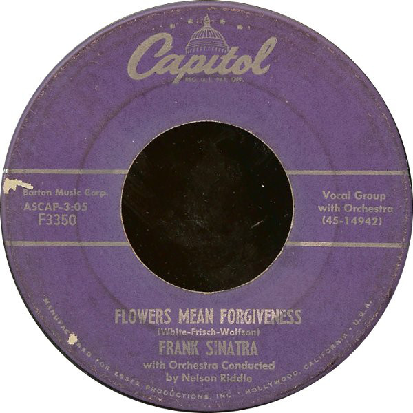Frank Sinatra - Flowers Mean Forgiveness