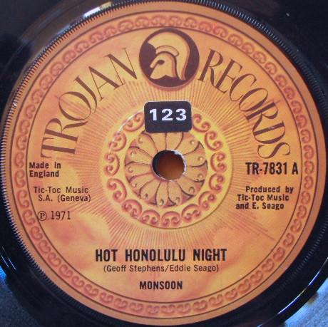 Monsoon - Hot Honolulu Night / Come Back Jane