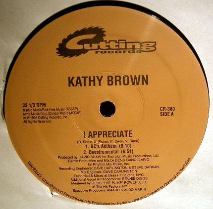 Kathy Brown - I Appreciate