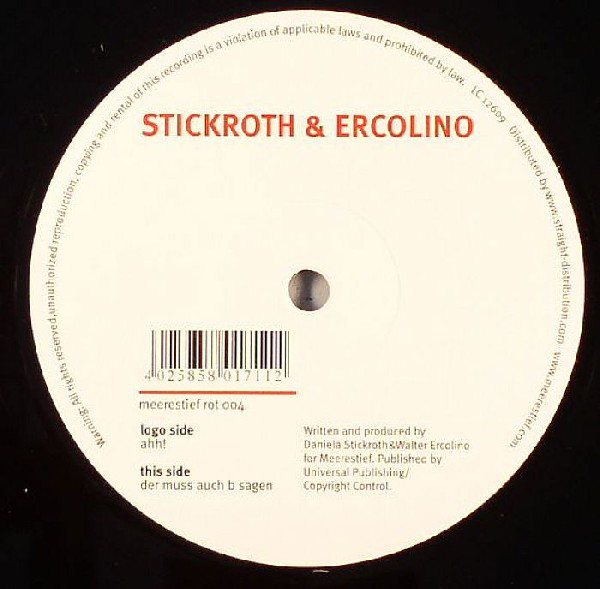 Stickroth & Ercolino - Ahh! / Der Muss Auch B Sagen