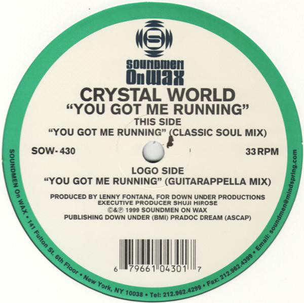 Crystal World - You Got Me Running