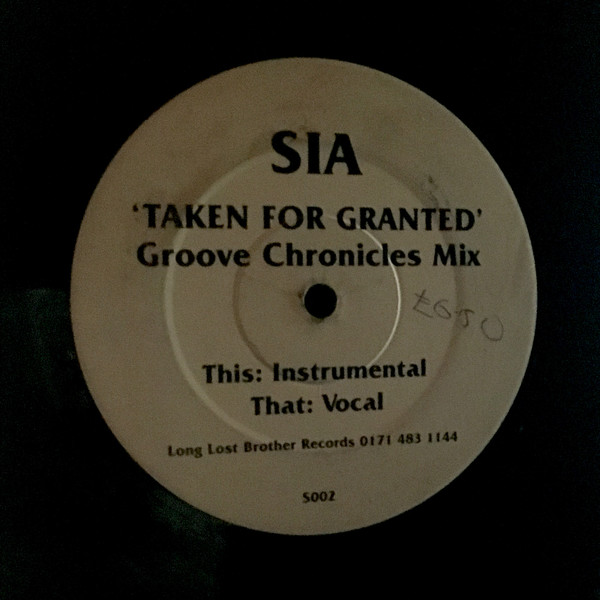 Sia - Taken For Granted