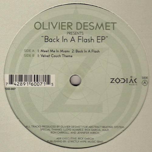 Olivier Desmet - Back In A Flash EP