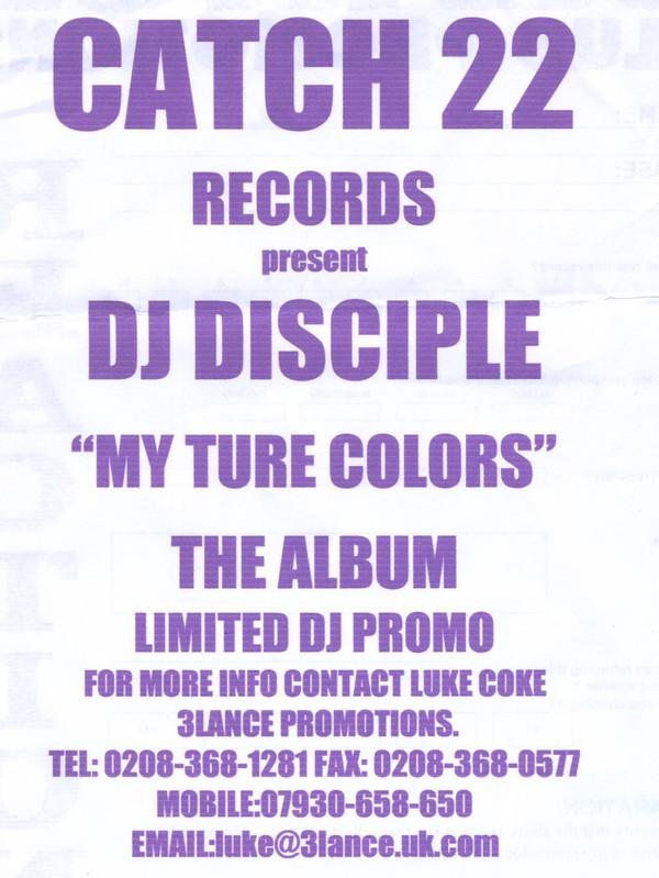 DJ Disciple - My True Colors LP