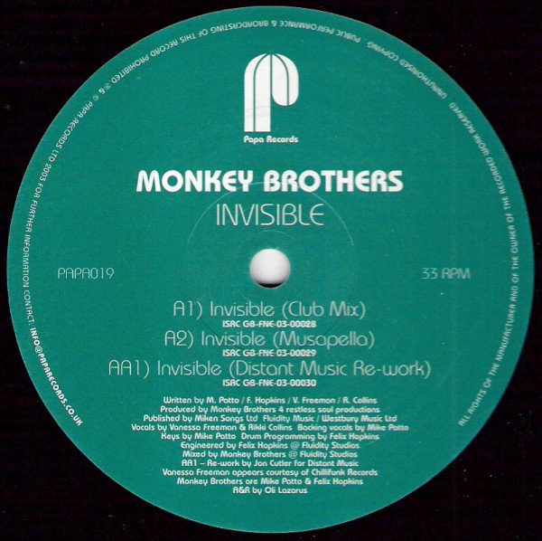 The Monkey Brothers - Invisible