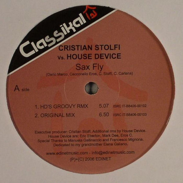 Cristian Stolfi vs. House Device - Sax Fly