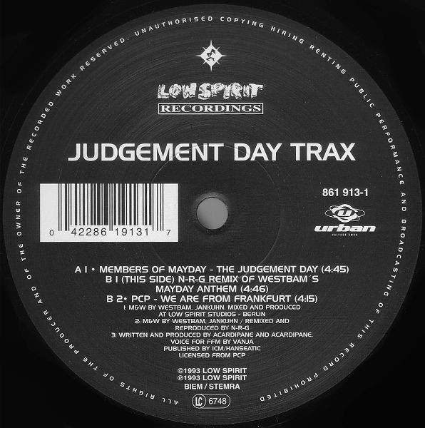 Various - Judgement Day Trax