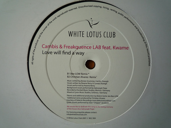 Cambis & Freakquence LAB feat. Kwame - Love Will Find A Way