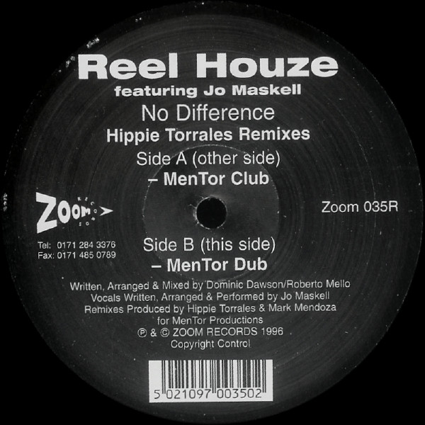 Reel Houze Featuring Jo Maskell - No Difference (Hippie Torrales Remixes)