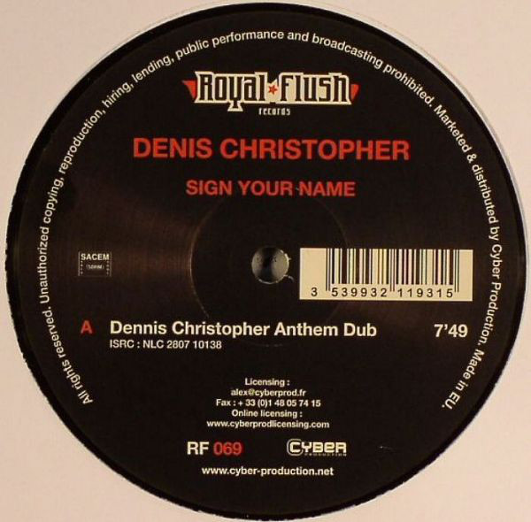 Denis Christopher - Sign Your Name