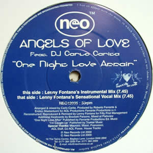 ANGELS OF LOVE feat DJ CARLO CARITA - One Night Love Affair Record
