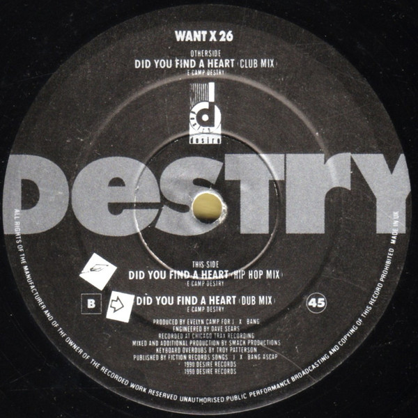 Destry - Did You Find A Heart