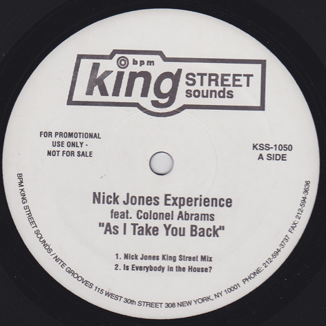 Nick Jones Experience Feat. Colonel Abrams ? - As I Take You Back