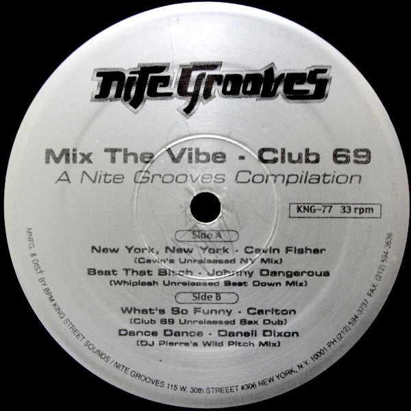 Club 69 -  Mix The Vibe - A Nite Grooves Compilation