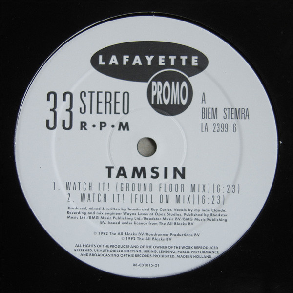 Tamsin - Watch It !