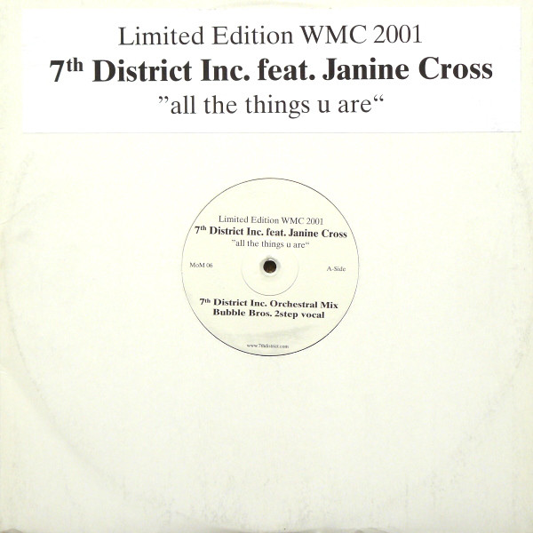 7th District Inc. Feat. Janine Cross - All The Things U Are