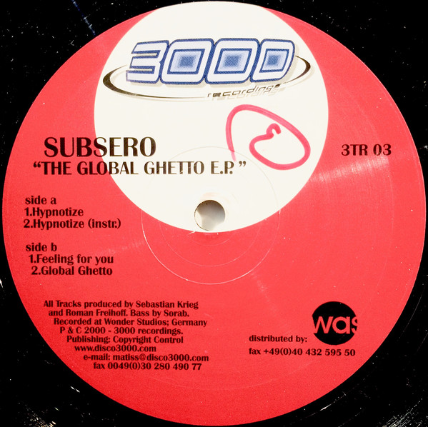 Subsero - The Global Ghetto E.P.