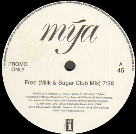 Mya - Free (Milk & Sugar Remixes)