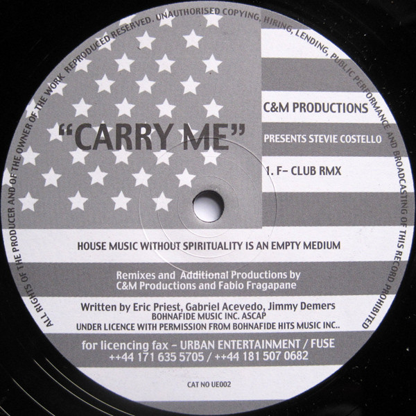 C&M Productions Presents Stevie Costello - Carry Me