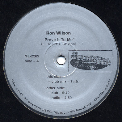 Ron Wilson - Prove It To Me