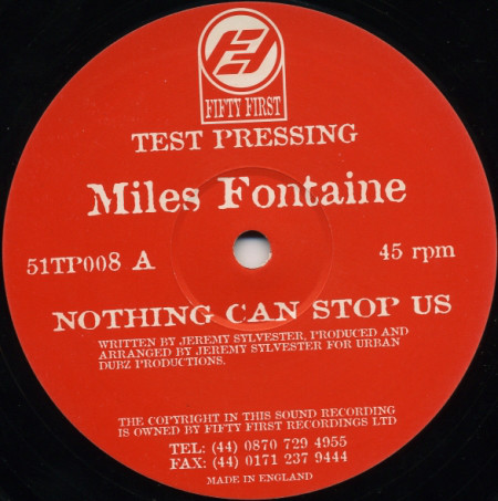 Miles Fontaine - Nothing Can Stop Us