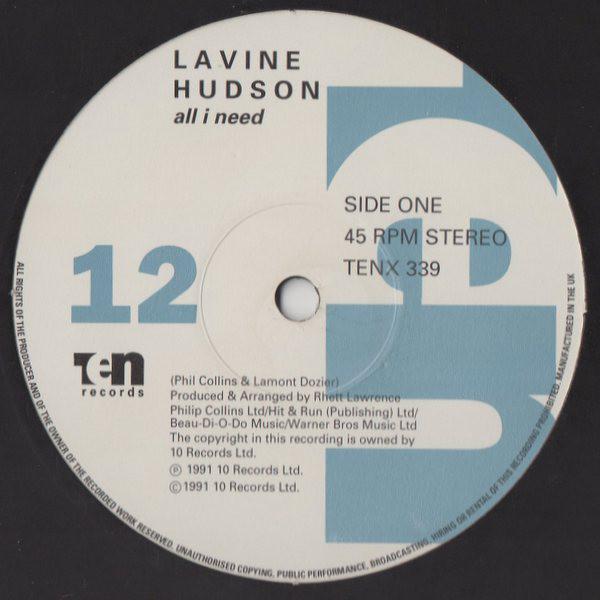 Lavine Hudson - All I Need