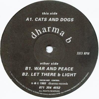 Dharma B - Cats And Dogs