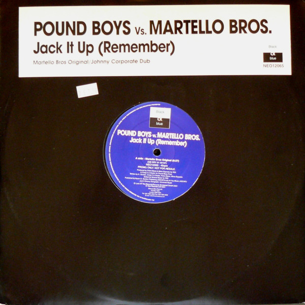 Pound Boys vs. Martello Bros. - Jack It Up (Remember)