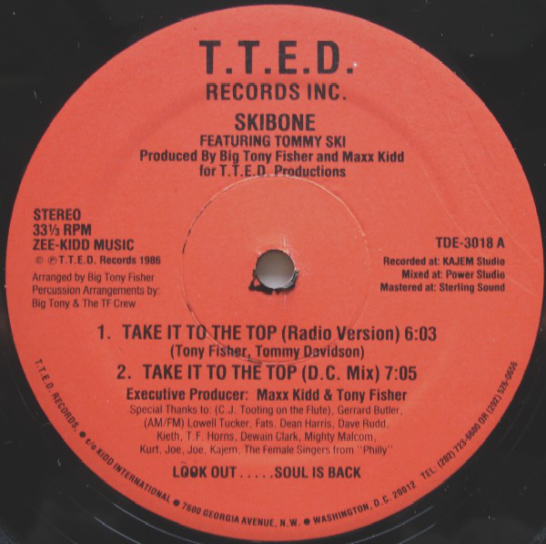 Skibone Featuring Tommy Ski - Take It To The Top