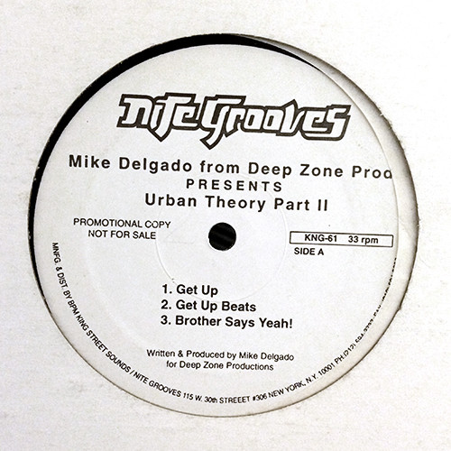 Mike Delgado From Deep Zone Prod. - Urban Theory Part II