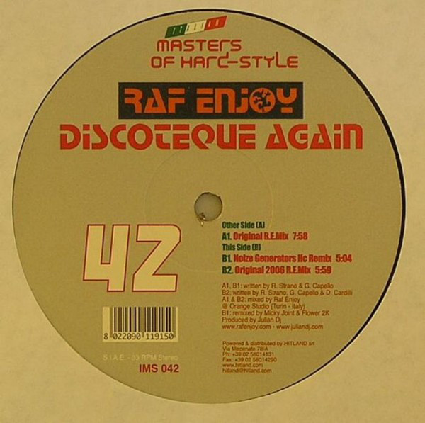 Raf Enjoy - Discoteque Again