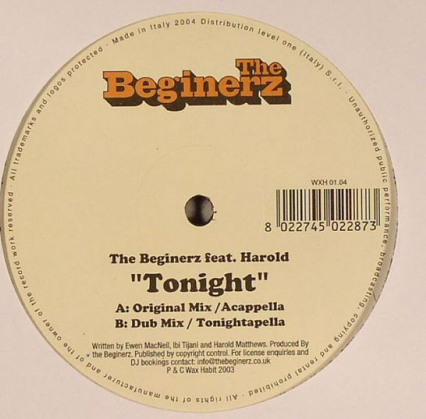 The Beginerz Feat. Harold Matthews - Tonight