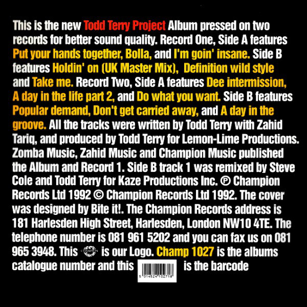 Todd Terry Project - Todd Terry Project Album