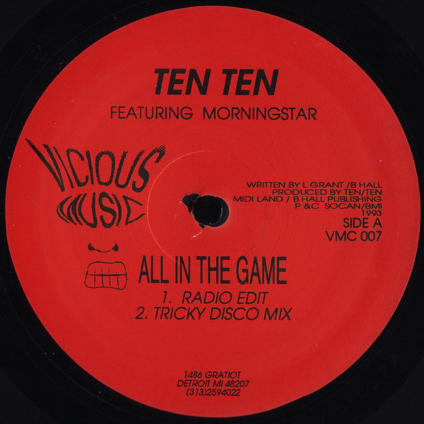 Ten Ten - All In The Game / Its Just A Groove (The Remixes)
