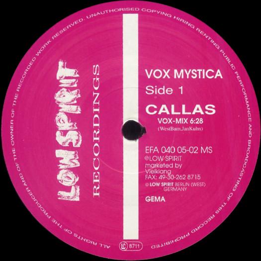 Vox Mystica - Callas