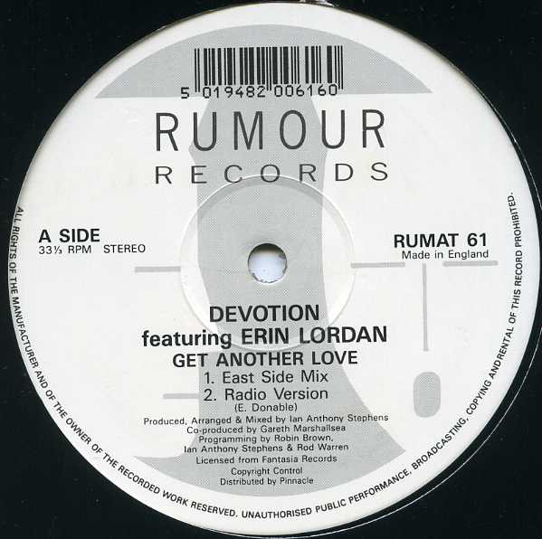 Devotion Featuring Erin Lordan - Get Another Love